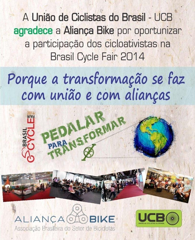 Banner UCB agradece Aliança Bike BCF 2014