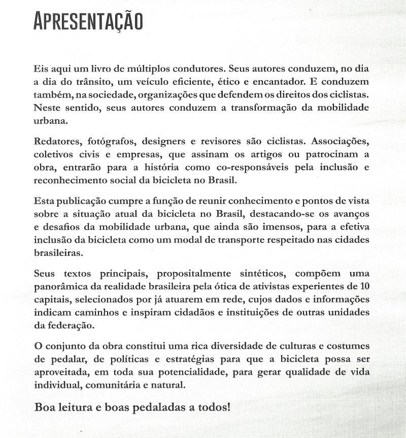 Apresentação Livro A bicicleta no Brasil