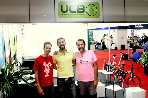 Atual diretoria da UCB - Yuriê Baptista (esq), Guilherme Tampieri (centro) e André Soares (dir)